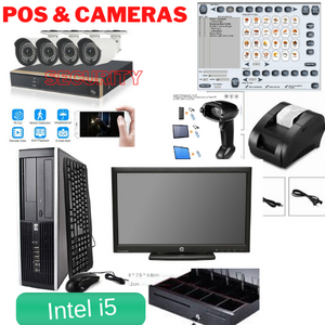 Best Deal Camera Security Dvr 4 x Cameras  & POS Point of Sale System Intel Core i5 Duo Combo Kit Retail Store