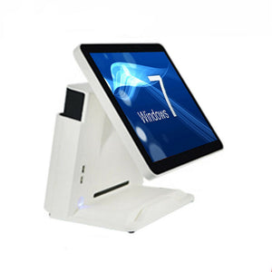 "15"" Point of sale POS system register Touch White screen restaurant retail Bar Deli includes accessories"