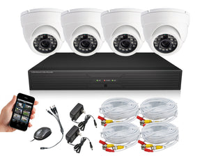 INDOOR Surveillance Cameras system, dvr kit, security camera 4 CH H.264 Smartphone