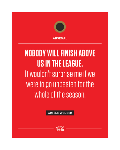 Arsenal - Invincibles Quote