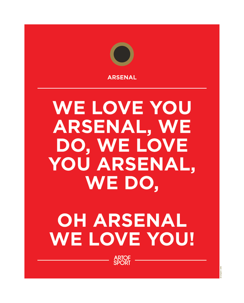 We love you Arsenal
