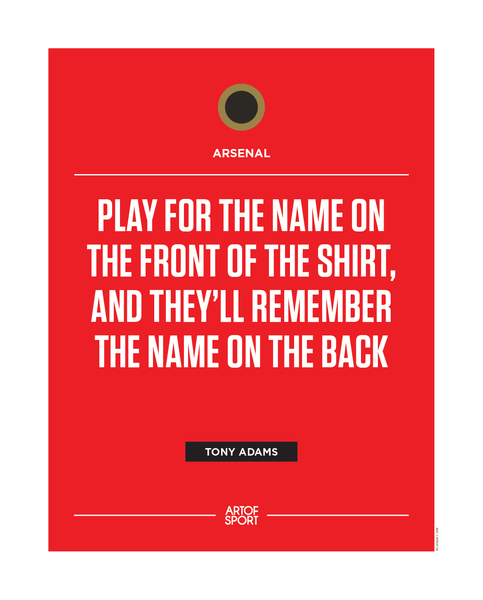 Arsenal - Front not back