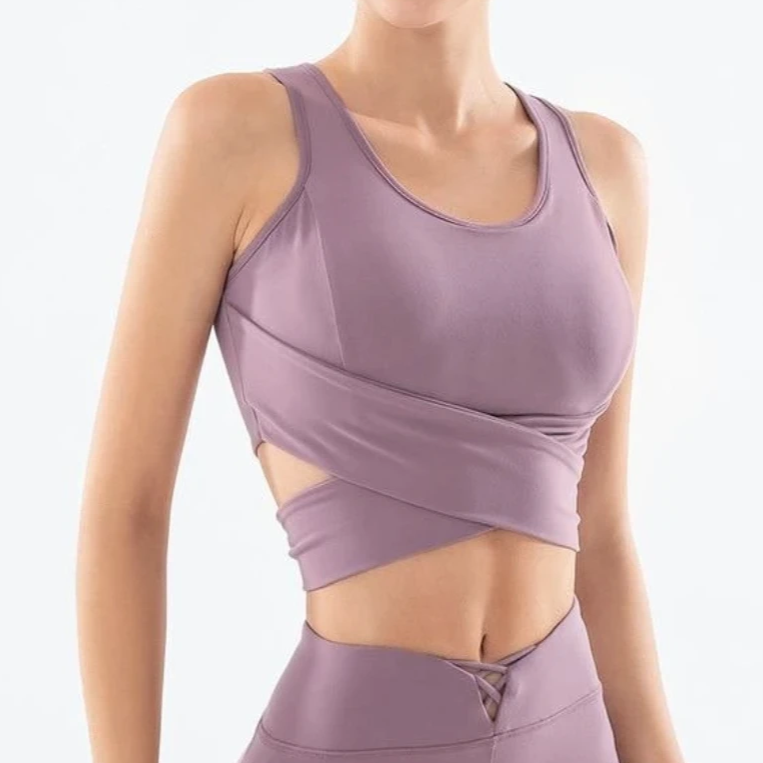 LUX C Series Bow Crop Tank - Purple - OUTCAST DISTRICT