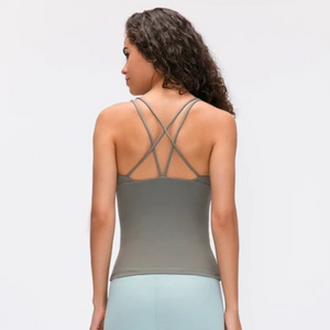 Athletic Cross Strap Tank Top - Green - OUTCAST DISTRICT