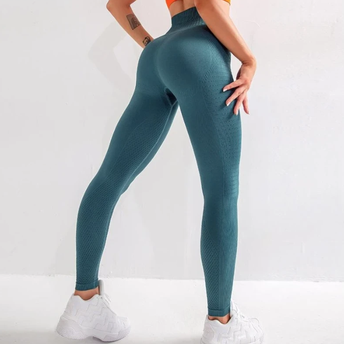 Side Panel High Waist Full Length Legging - Green - OUTCAST DISTRICT