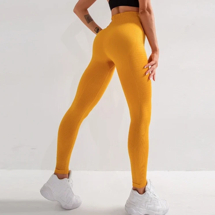 Side Panel High Waist Full Length Legging - Yellow - OUTCAST DISTRICT