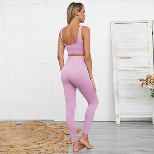 LUX Ribbed Yoga Set - Lilac - OUTCAST DISTRICT