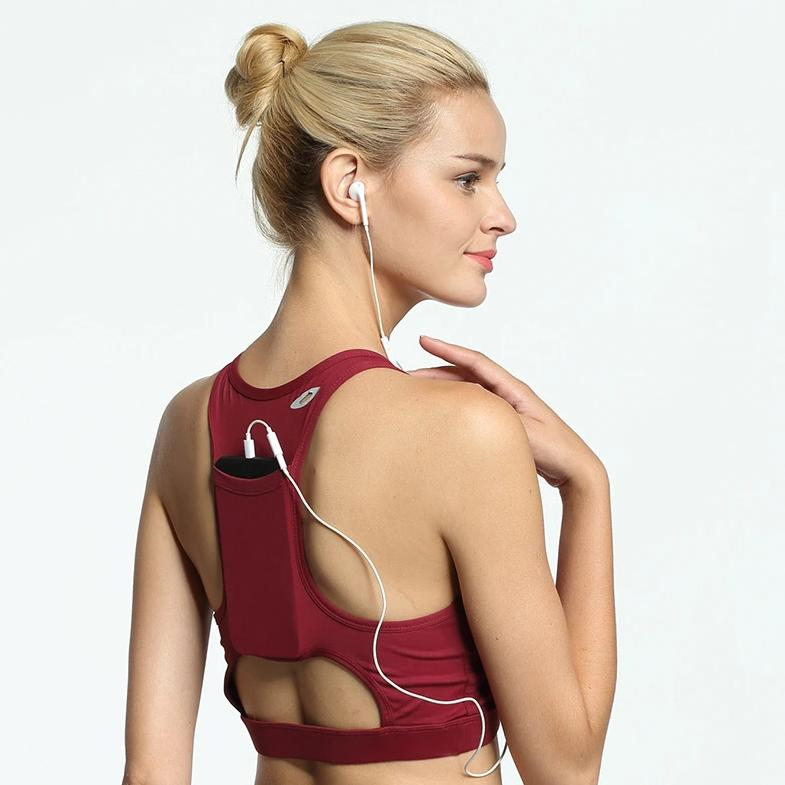 Back Pocket Intense Sport Bra - Red - OUTCAST DISTRICT