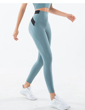 High Waist Cross Back Full Length Legging - Mysterious Green - OUTCAST DISTRICT
