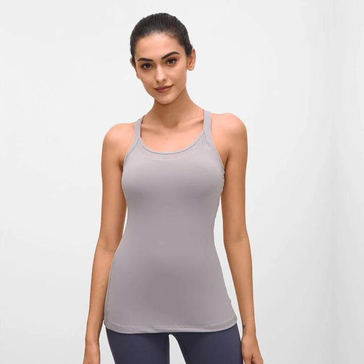 Slim Fit Fitness Tank Tops - Grey - OUTCAST DISTRICT