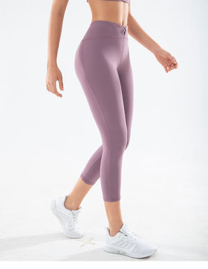 LUX C Series Capris High Waisted Legging - Purple - OUTCAST DISTRICT