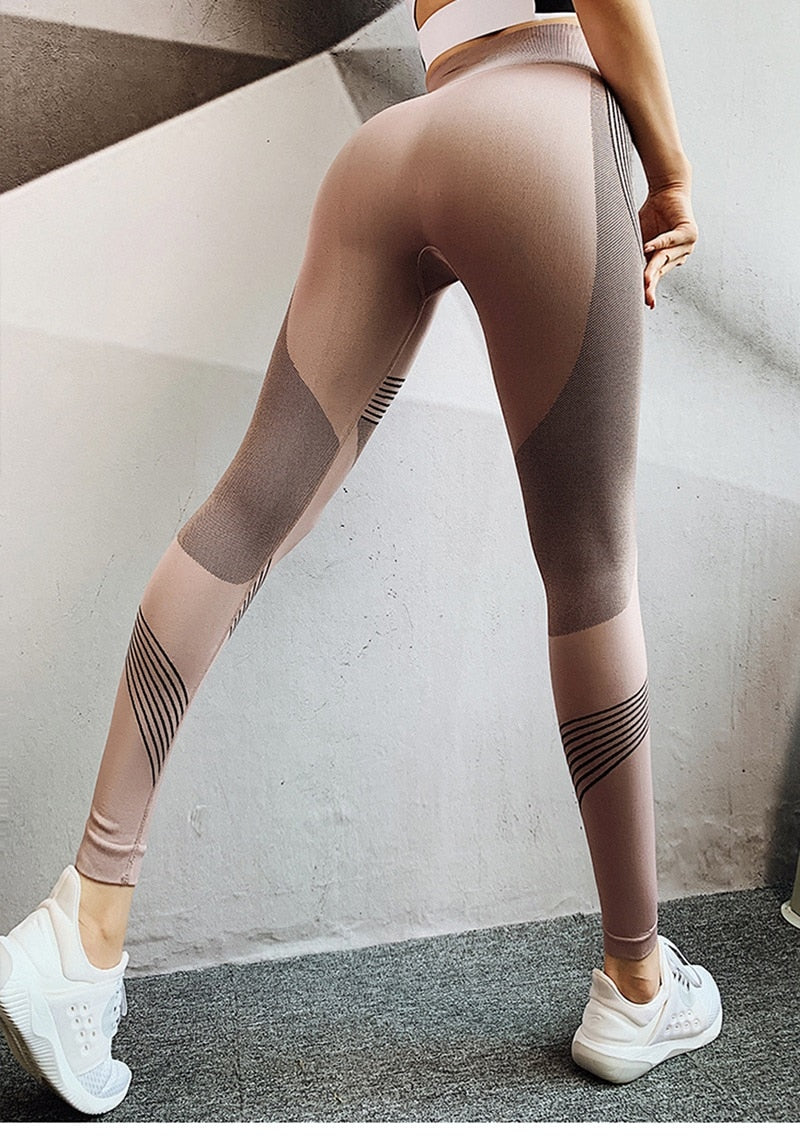 High Waist Cross Contrast Full Length Legging - Coffee - OUTCAST DISTRICT