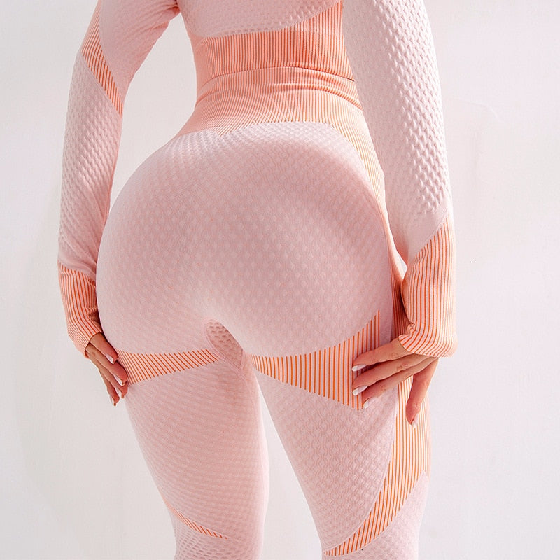 Color Block Seamless Training Legging - Pink - OUTCAST DISTRICT