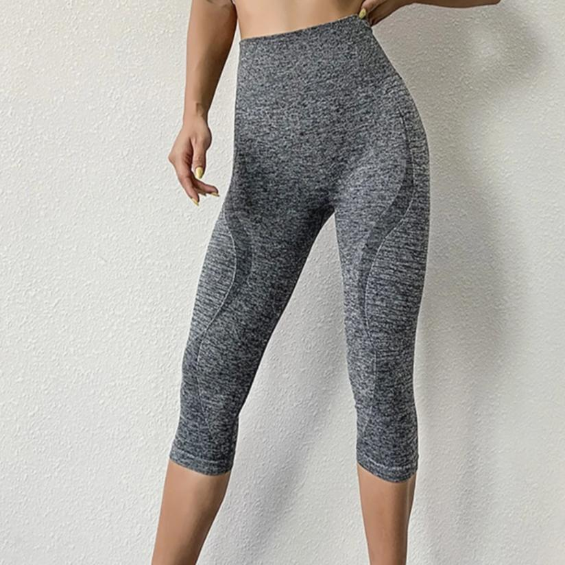 Power Seamless 3/4 Length Legging - Gray - OUTCAST DISTRICT