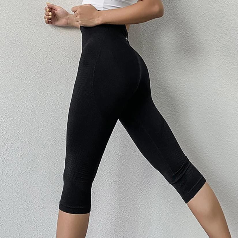 Power Seamless 3/4 Length Legging - Black - OUTCAST DISTRICT