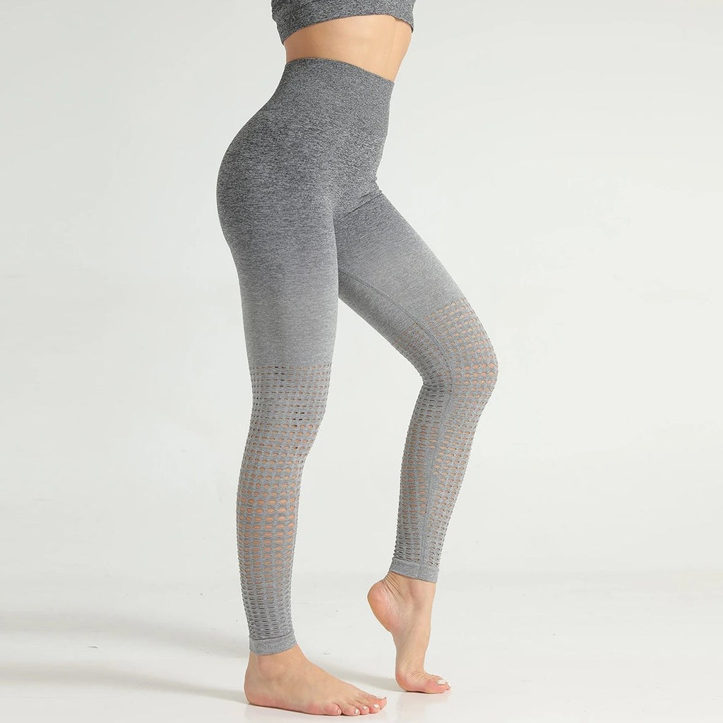 Seamless Ombre Full Length Legging - Gray Ombre - OUTCAST DISTRICT