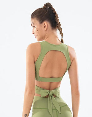 LUX C Series Bow Crop Tank - Green - OUTCAST DISTRICT