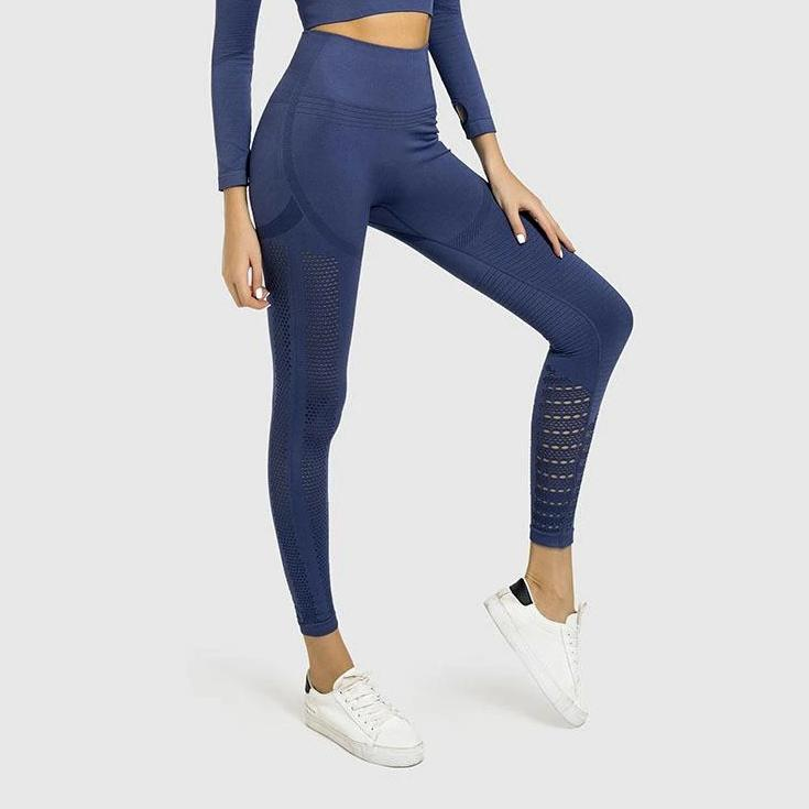 Hight Waist Sculpt 2.0 Full Length Legging - Blue - OUTCAST DISTRICT