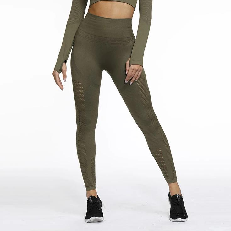 Hight Waist Sculpt 2.0 Full Length Legging - Green - OUTCAST DISTRICT