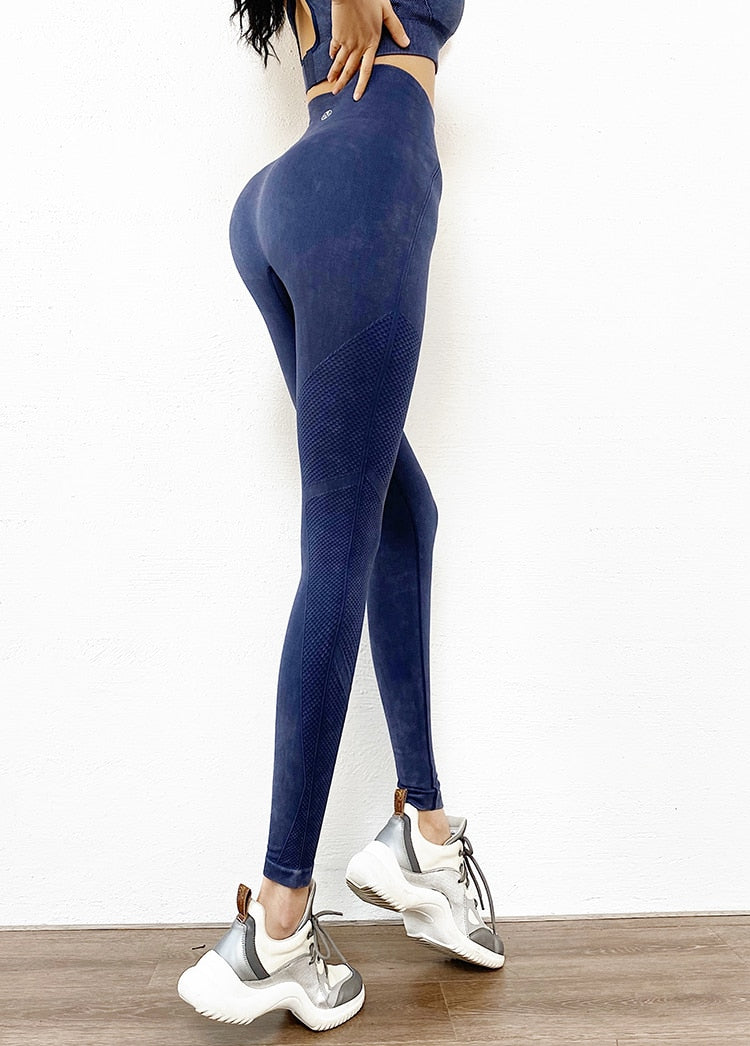 Ashy Seamless Full Length Legging - Blue - OUTCAST DISTRICT