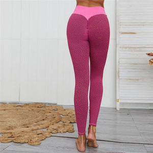 3D Mesh Seamless Knit Full Length Leggings - Pink - OUTCAST DISTRICT