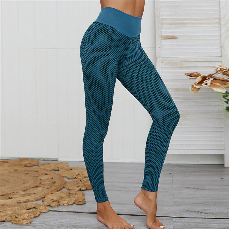 3D Mesh Seamless Knit Full Length Leggings - Blue - OUTCAST DISTRICT