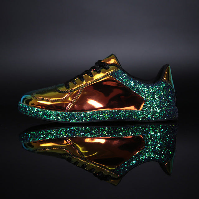 Gold Glitter Shinny Sneakers - Danish Fashion & Living Online Store SALE