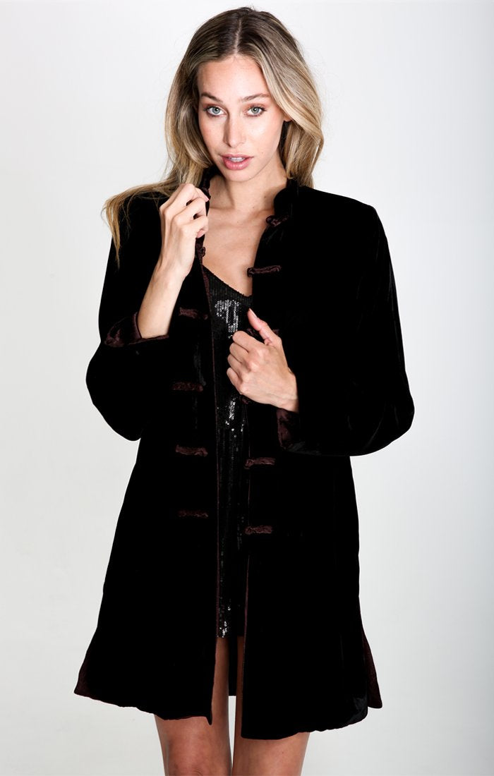 LIV VELVET REVERSIBLE COAT - Danish Fashion & Living Online Store SALE