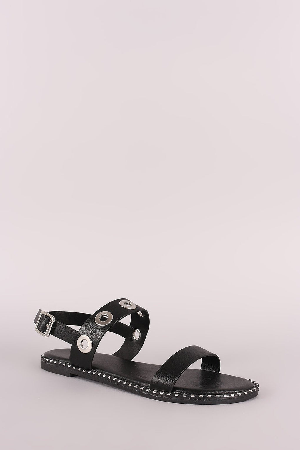 Bamboo Grommet Double Band Slingback Flat Sandal - Danish Fashion & Living Online Store SALE