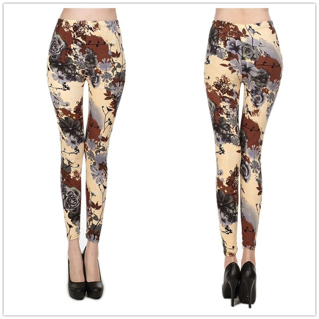 Rose Printing Leggings - Danish Fashion & Living Online Store SALE