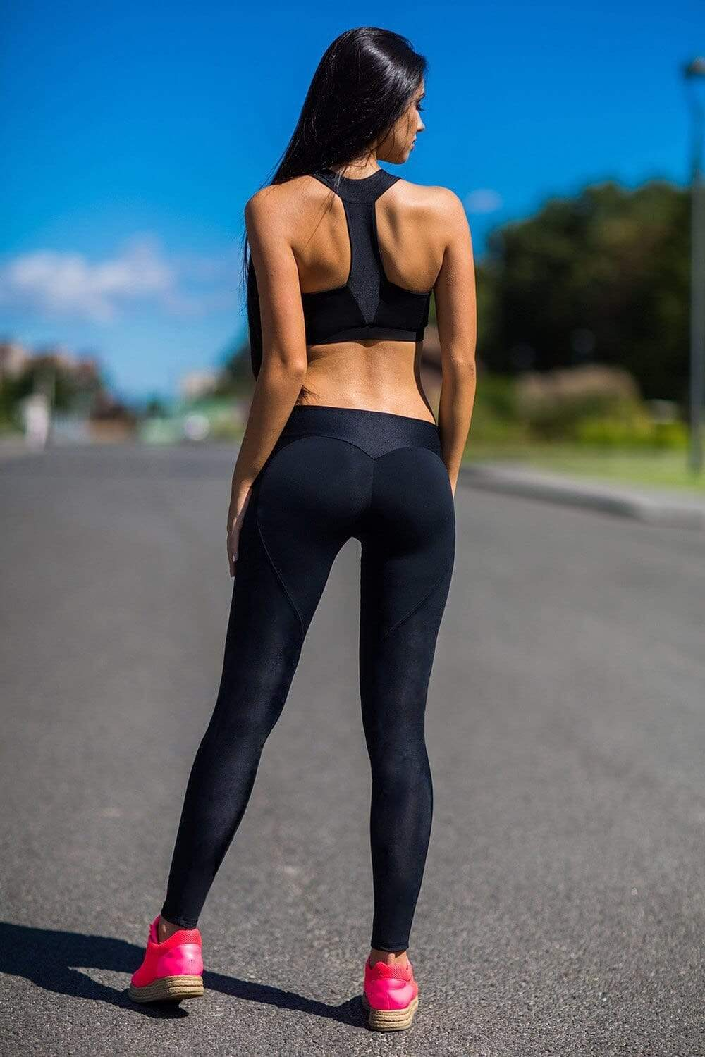 Solid Fitness Leggings - Danish Fashion & Living Online Store SALE
