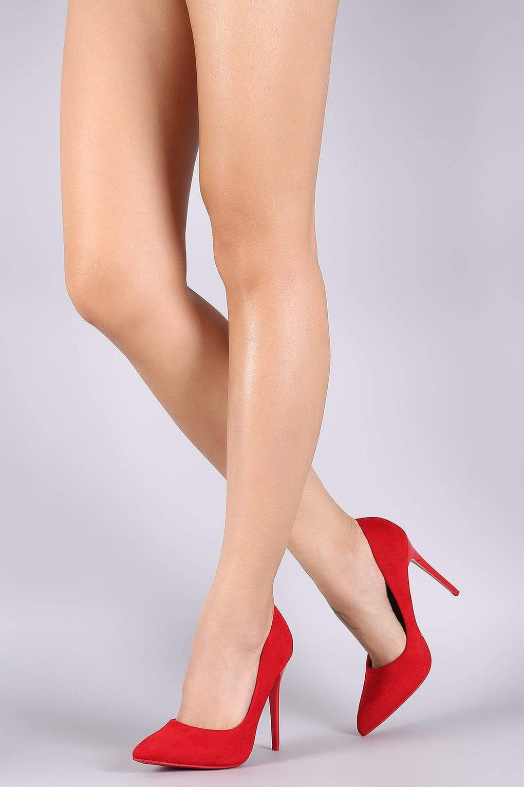 Suede Pointy Toe Stiletto Pump - Danish Fashion & Living Online Store SALE