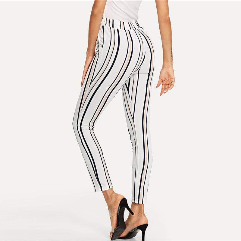 Vertical Striped Skinny Pants - Danish Fashion & Living Online Store SALE
