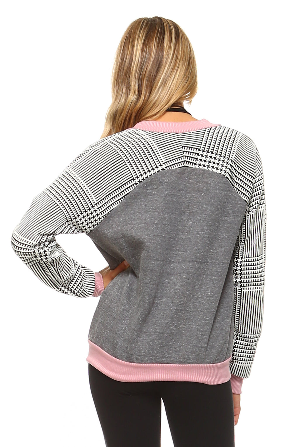 Women's Checkered Zip Up Bomber - Danish Fashion & Living Online Store SALE