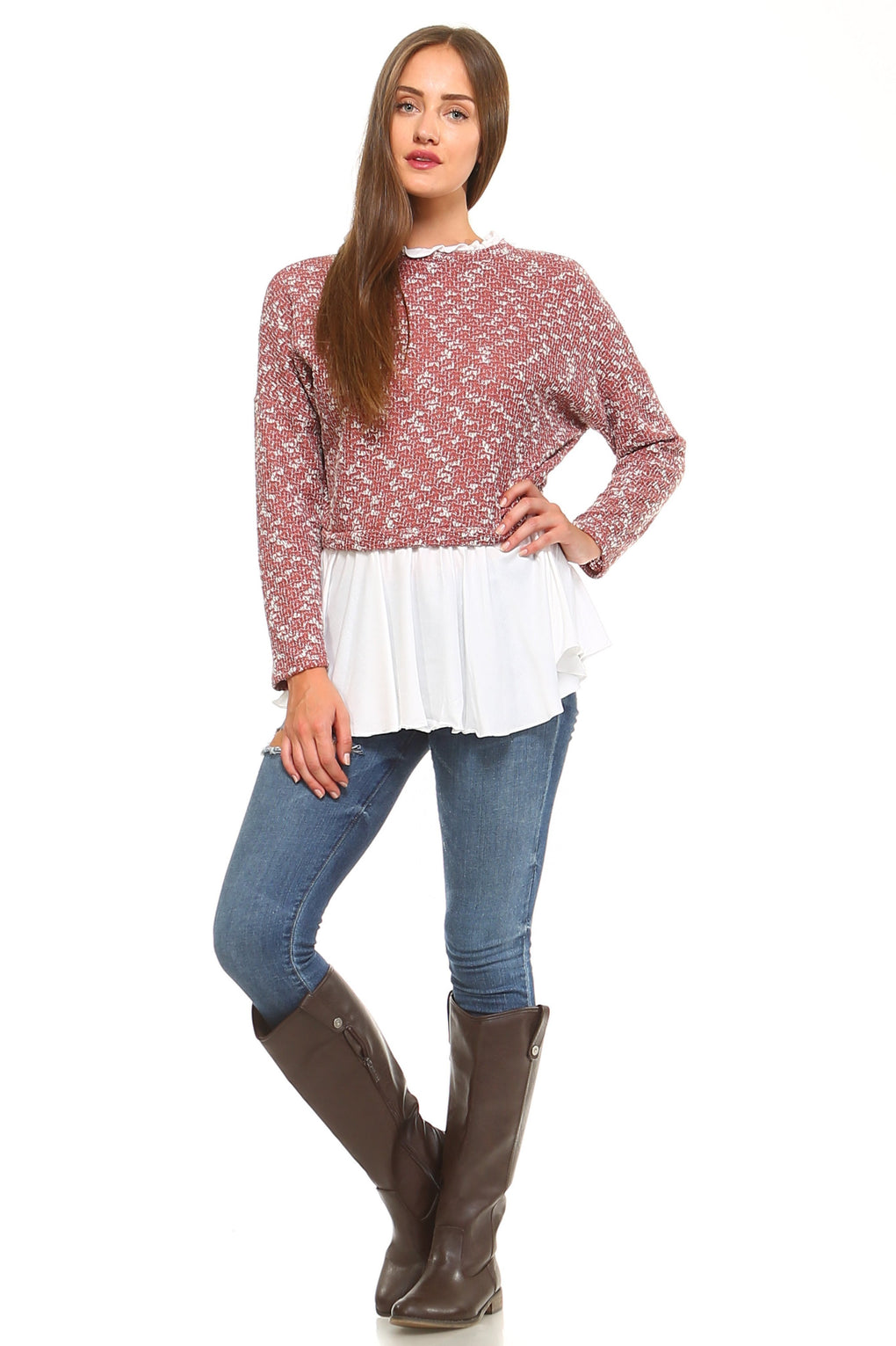 Women's Double Layer Knitted Sweater - Danish Fashion & Living Online Store SALE