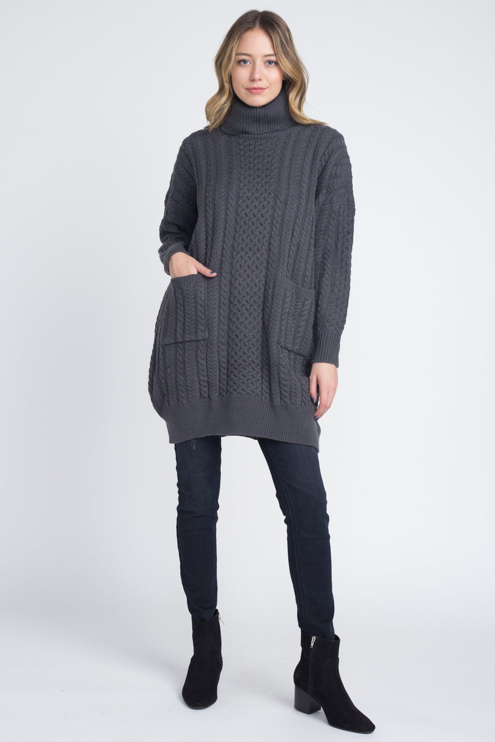 Women's Loose Fit Turtleneck Sweater - Danish Fashion & Living Online Store SALE