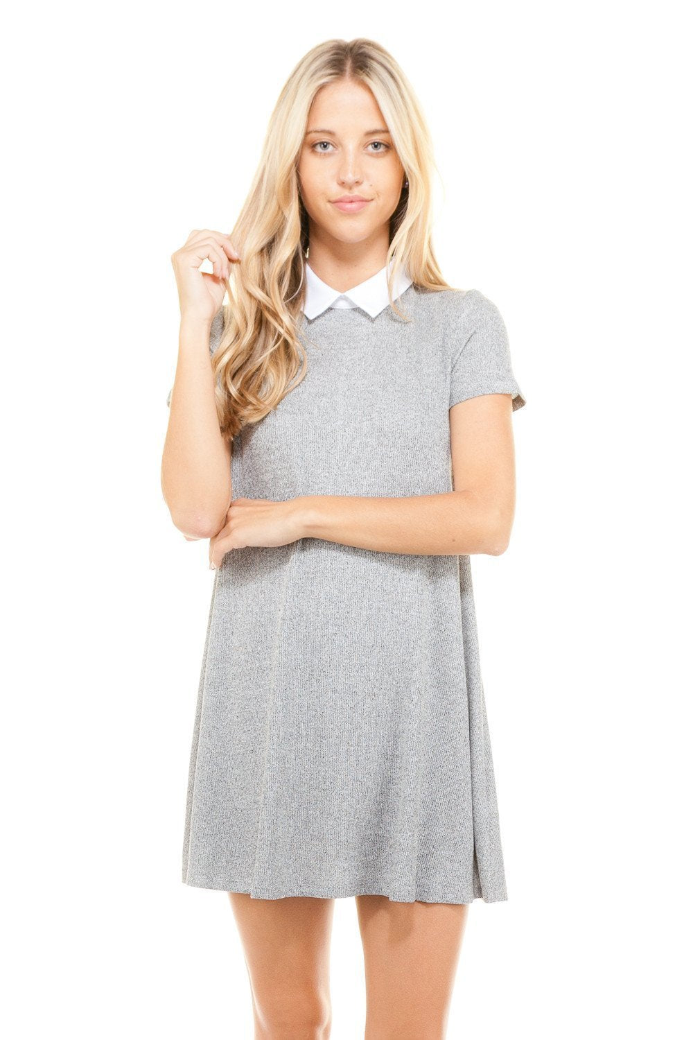 Women's Loose Fitted Collar T-shirt Dress - Danish Fashion & Living Online Store SALE