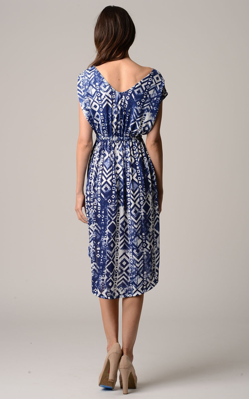 Women's Printed Hi-Low Dress - Danish Fashion & Living Online Store SALE