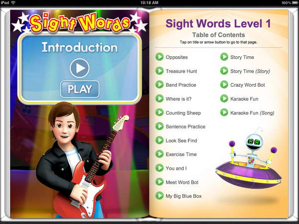 Sight Words Level 1 Ibook Rock N Learn