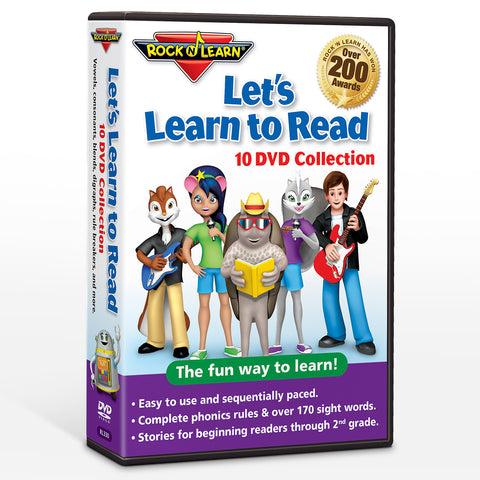 Let's Learn to Read 10 DVD Collection