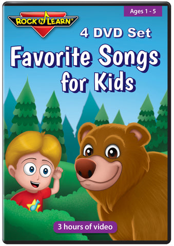 Favorite Songs for Kids (4 DVD Set)