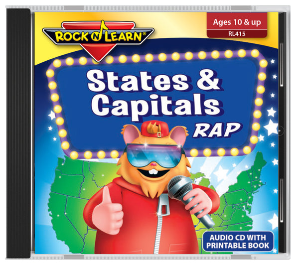States & Capitals Rap (audio & printable book)