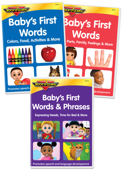 Baby's First Words 3-DVD Set