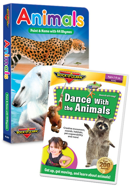 Animals DVD & Board Book