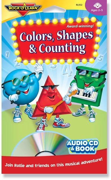 Colors, Shapes & Counting (audio & book)