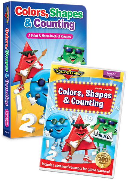 Colors, Shapes & Counting DVD & Board Book