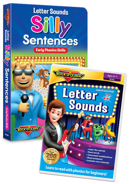 Letter Sounds - Silly Sentences DVD & Board Book