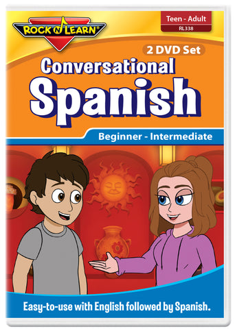 Conversational Spanish for Teens and Adults (2 DVD Set)