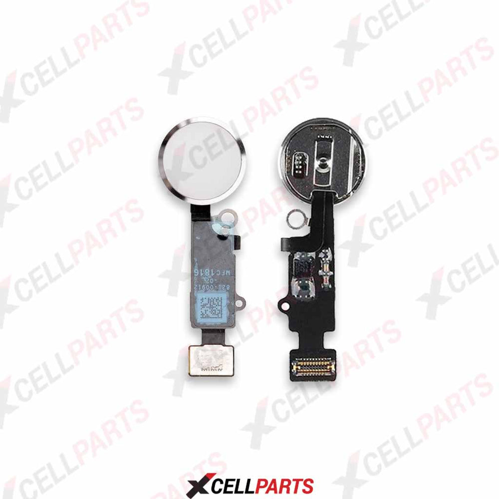 Home Button Flex Cable For Iphone 7 / 7 Plus (For Cosmetic Use Only) (Silver)