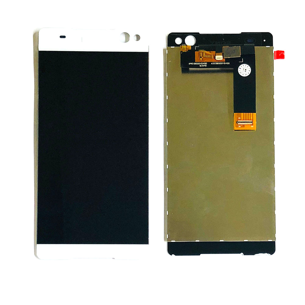 LCD Screen Touch Digitizer With Out Frame Sony Xperia C5 (5506-33-53-63) (White)